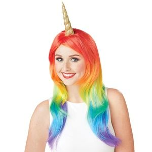 Rainbow Unicorn Wig